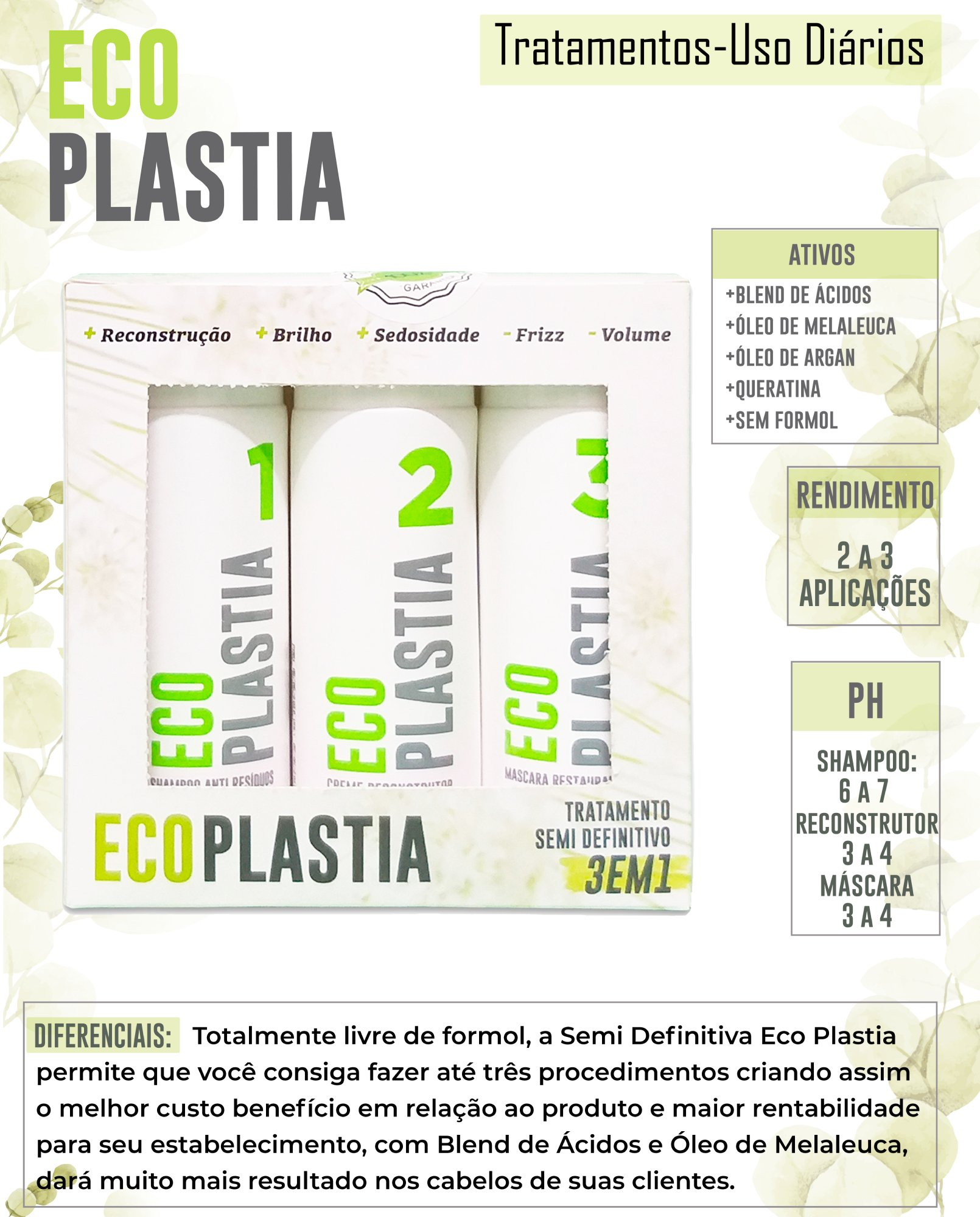 Kit Pequeno Semi Definitiva Sem Formol EcoPlastia - 3 em 1