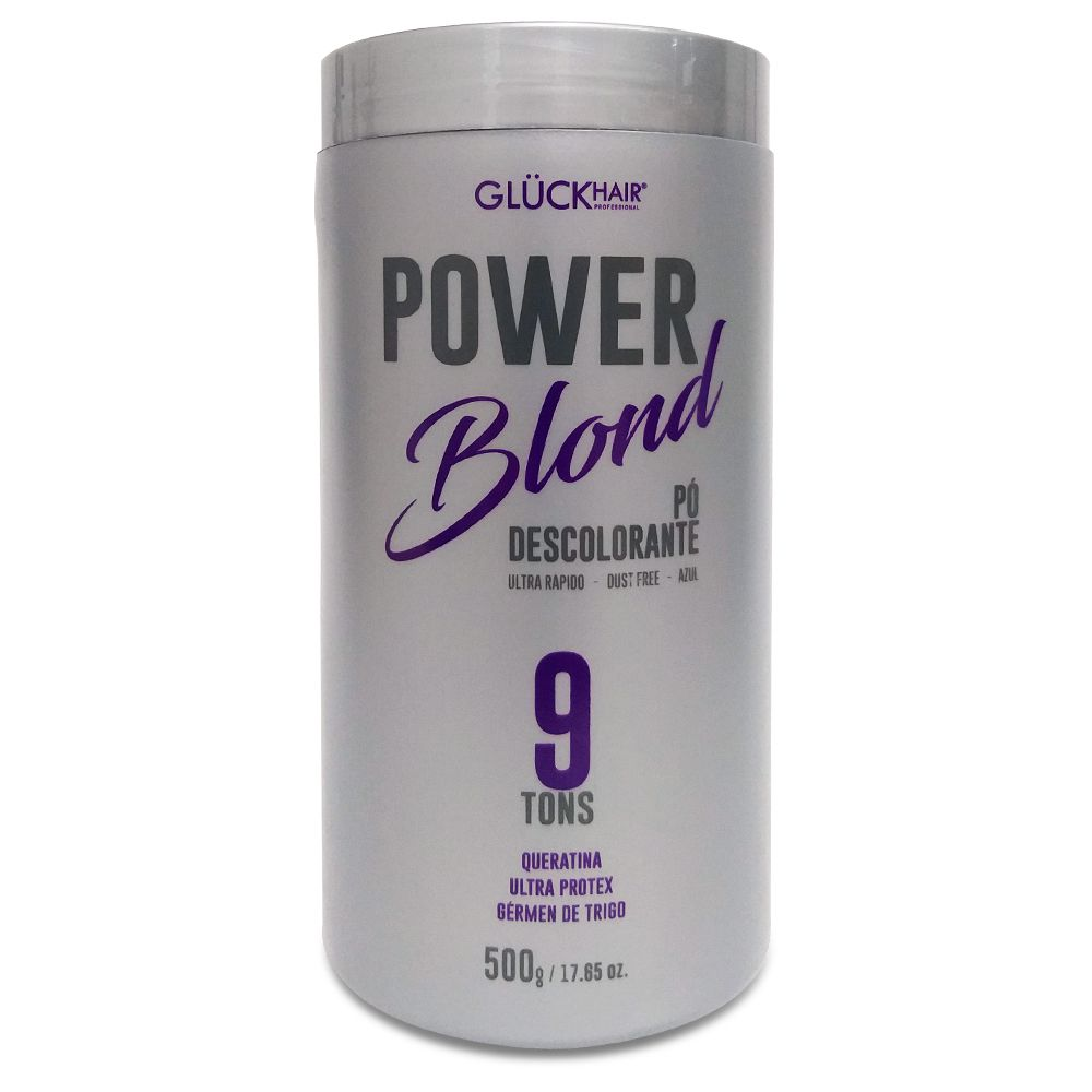 Kit Super Loiros PowerBlond Pó Descolorante 500g + Shampoo Desamarelador 1000ml