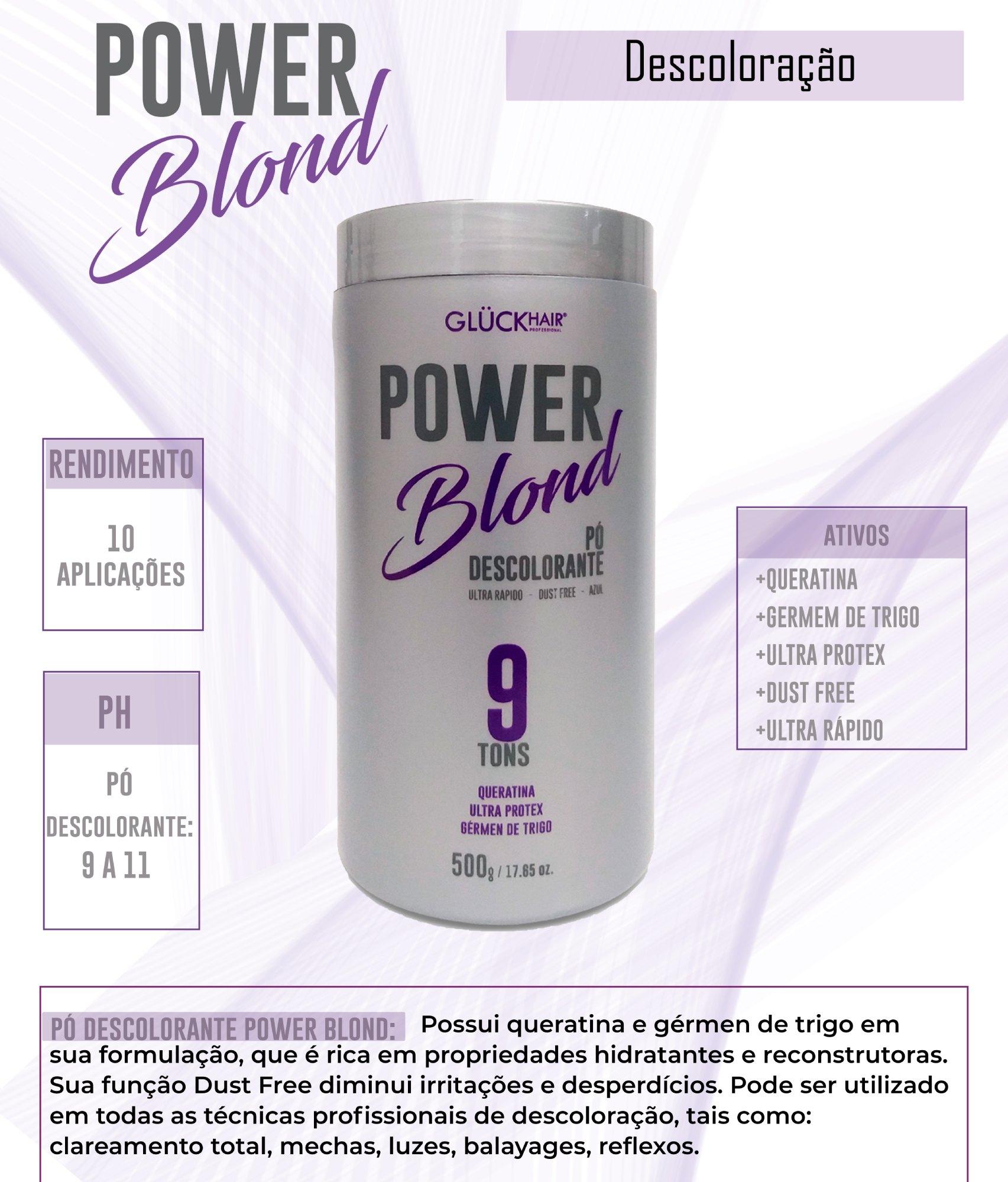 Kit Super Loiros PowerBlond Pó Descolorante 500g + Shampoo Desamarelador 1000ml