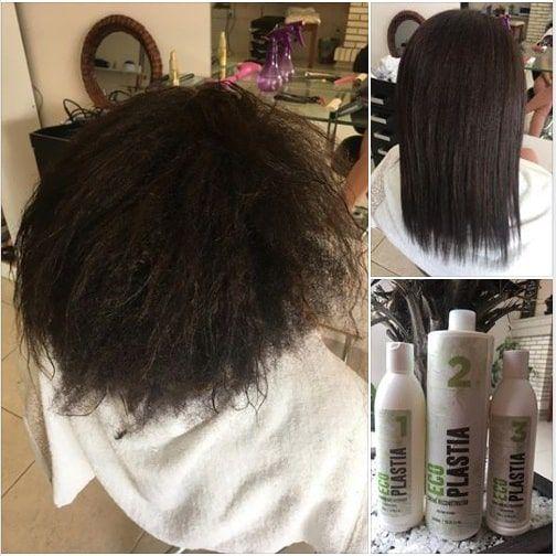 Shampoo Anti Residuos Semi Definitiva Sem Formol EcoPlastia 500ml - Passo 01