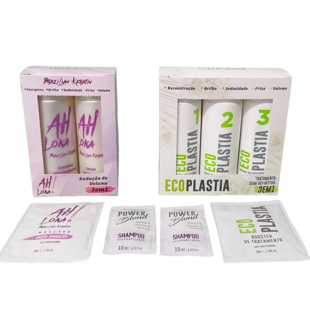 Super Kit Inicial de Produtos Gluck Hair Professional