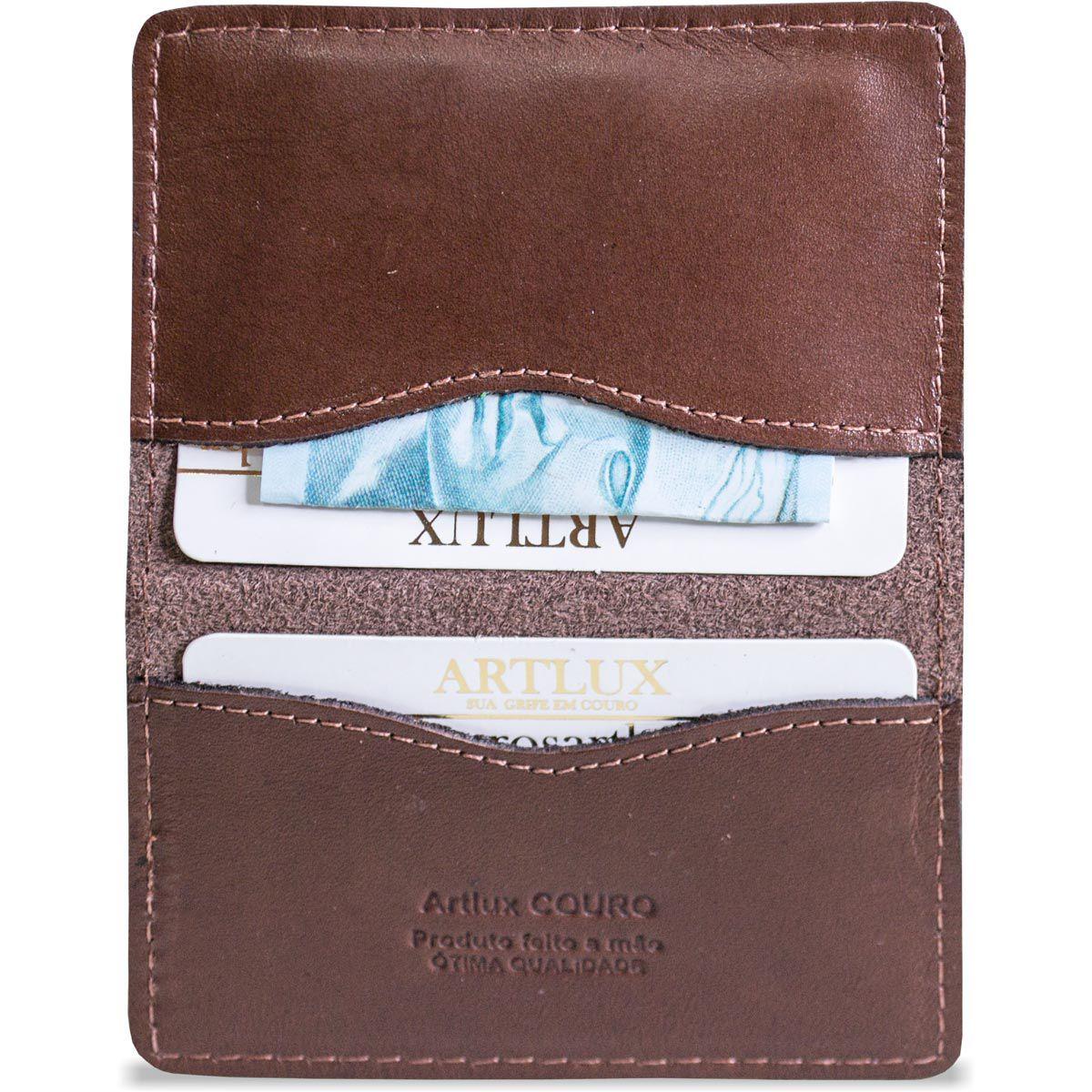 Porta Cartão em Couro Artlux