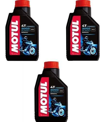 Oleo Motul 3000 (3 Litros) 20w50 Mineral -gratis Graxa