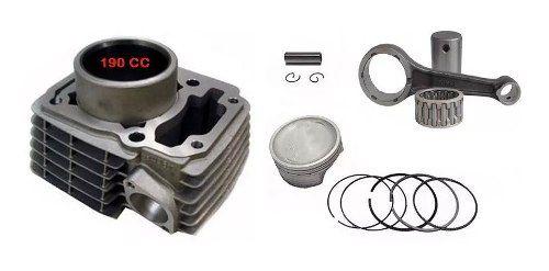 Kit 190 Cilindr/pistã/anel + Biela Titan 150 Fan 150 Bros 150