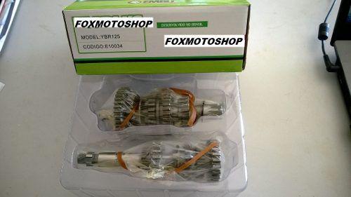 Caixa Cambio Completa Yamaha Ybr125 Xtz Novo Eixo Fino 00 A 05