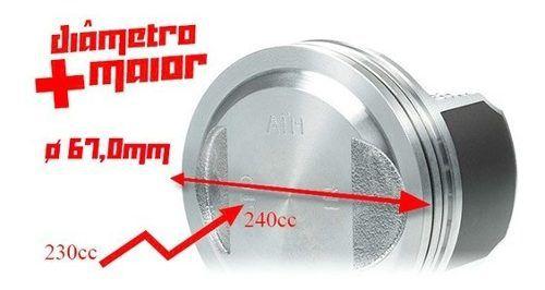 Kit Cilindro Aumento Potência Crf 240cc 67mm Taxado