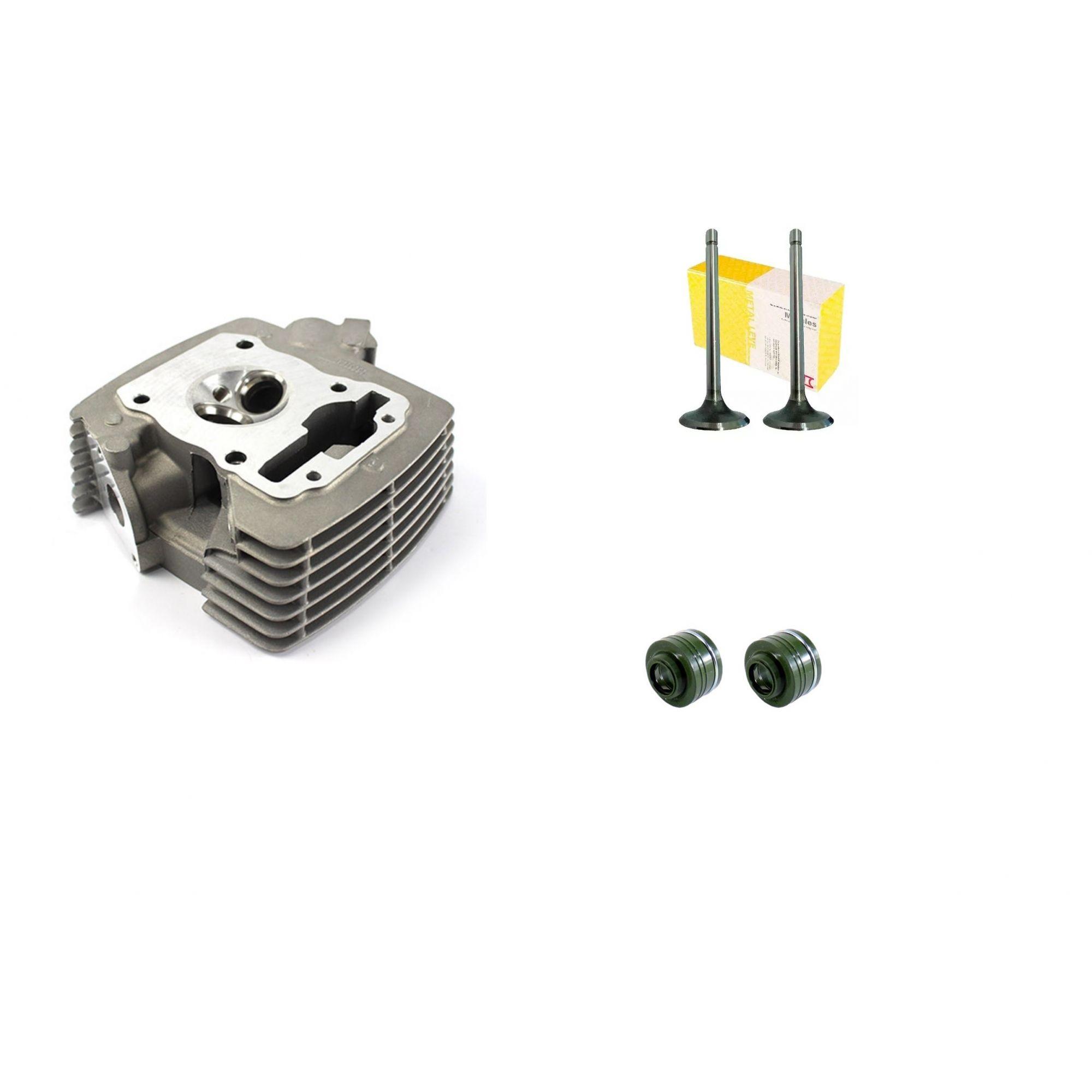Cabeçote + Valvulas + Retentor Titan 150 Fan 150 2009 a 2015