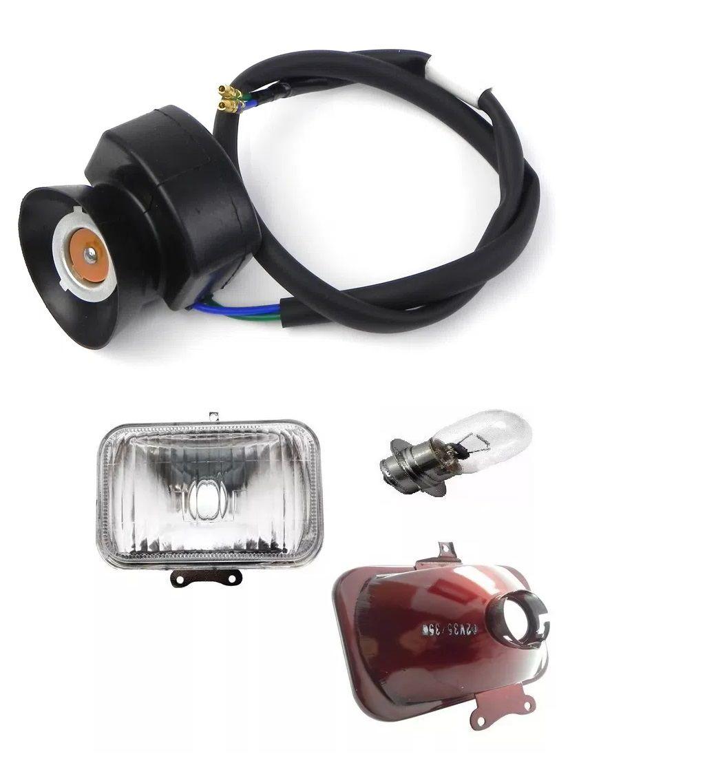 Farol Bloco Optico + Soquete + Lampada Farol Honda Crf 230