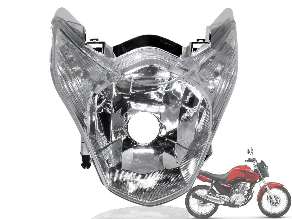 Farol Bloco Optico Titan 150 Mix 2011 A 2013 + Lampada