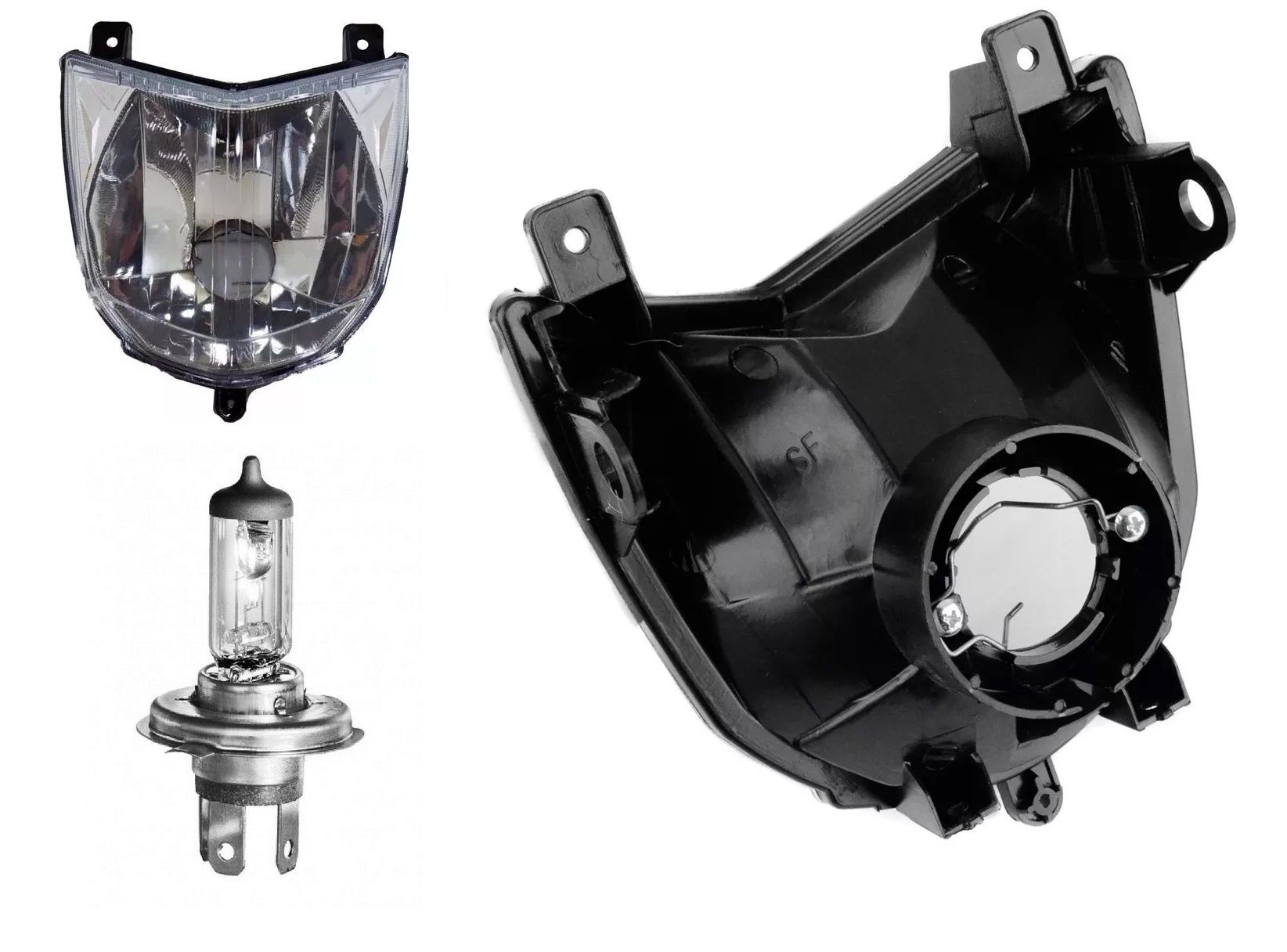 Farol Completo Yamaha Xtz 250 Lander Modelo Original + Lampada
