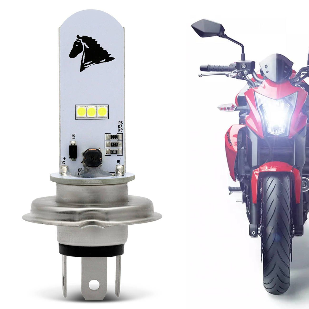 Lampada Led H4 Motos Titan Fan Speed Cb Twister Fazer Yes Ybr