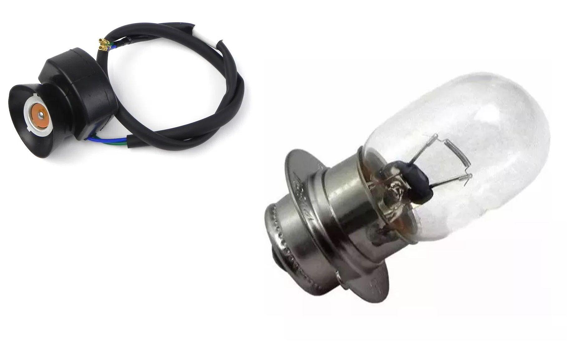 Soquete + Lampada Farol Honda Crf 230 Modelo Original