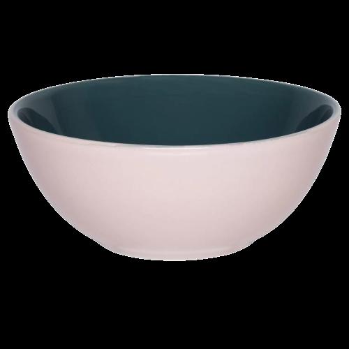 Bowl Tigela Verde/Rosa de Cerâmica 16cm 600ml - Oxford