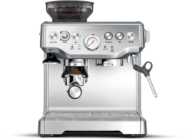 Cafeteira Máquina de Café Espresso Elétrica Tramontina by Breville Express Pro em Aço Inox com Moedor 2 L 127 V