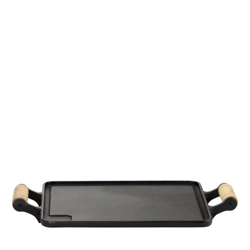 Chapa Bifeteira de Ferro com 2 Alças de Madeira
