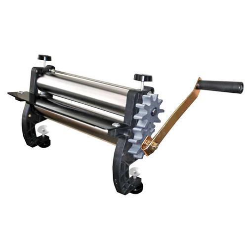 Cilindro Manual Antiaderente para Massa em Aço Cromado 28cm Engrenagem Alumínio - Malta