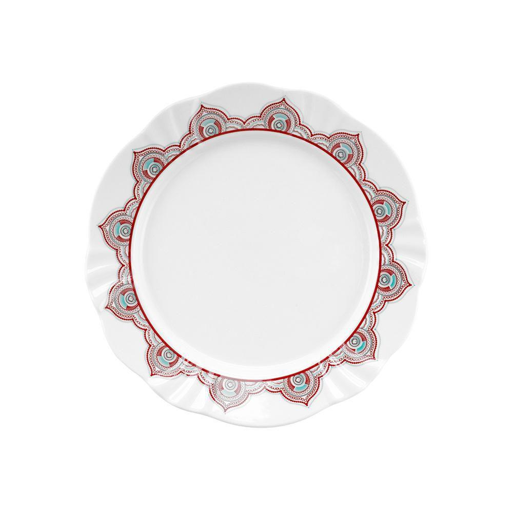 Conjunto de 6 Pratos de Sobremesa 23cm Soleil Talismã Oxford Porcelanas