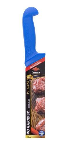 """Faca para Carne 8"""" com Cabo Azul Premium"""
