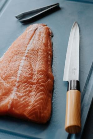 Faca para Peixe / Sashimi Inox com Cabo PP Linha Japan Ke Home
