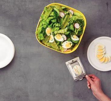 Cortador Fatiador de Ovos Tramontina Utilitá em Aço Inox e Polipropileno Branco