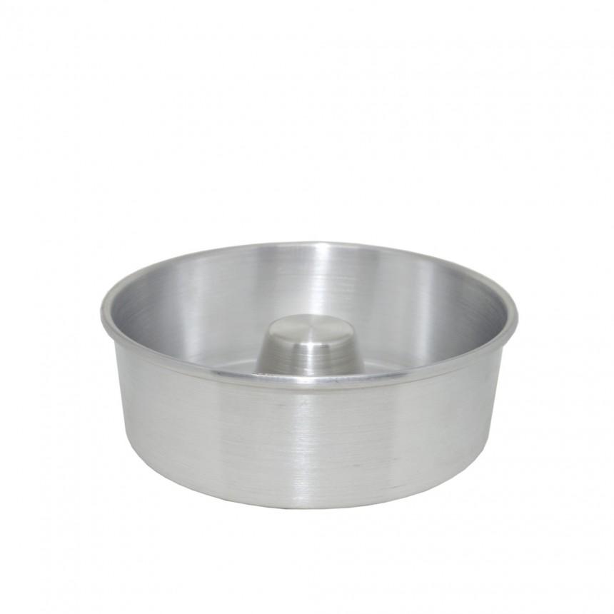 Forma de Bolo/Pudim com Tubo Nº3 Alumínio - 28 x 8cm