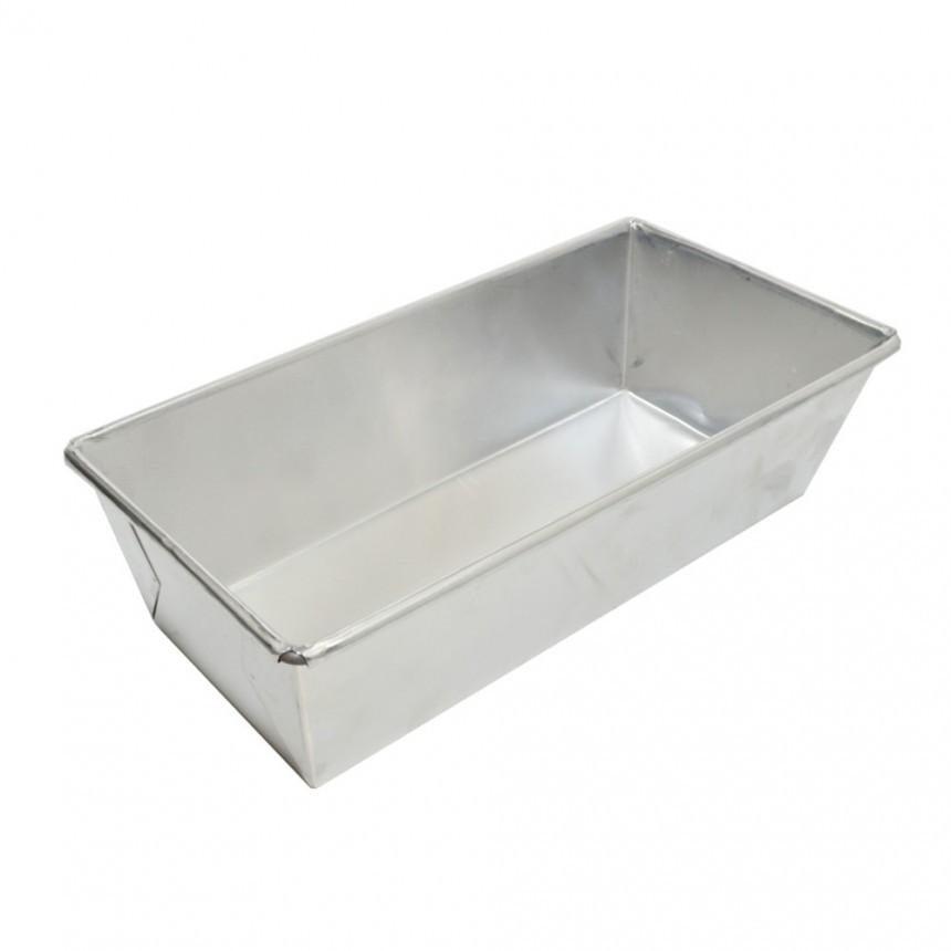 Forma de Pão / Bolo Inglês em Alumínio 21 x 9 x 7cm