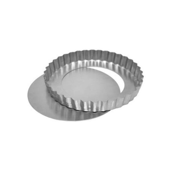 Forma Quiche/Torta Maça Crespa 13x13cm com Fundo Falso