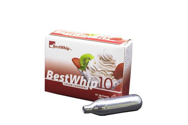 Kit com 10 Cápsulas de Gás para Chantilly BestWhip