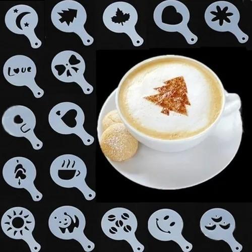 Kit com 16 Moldes para Decorar Café