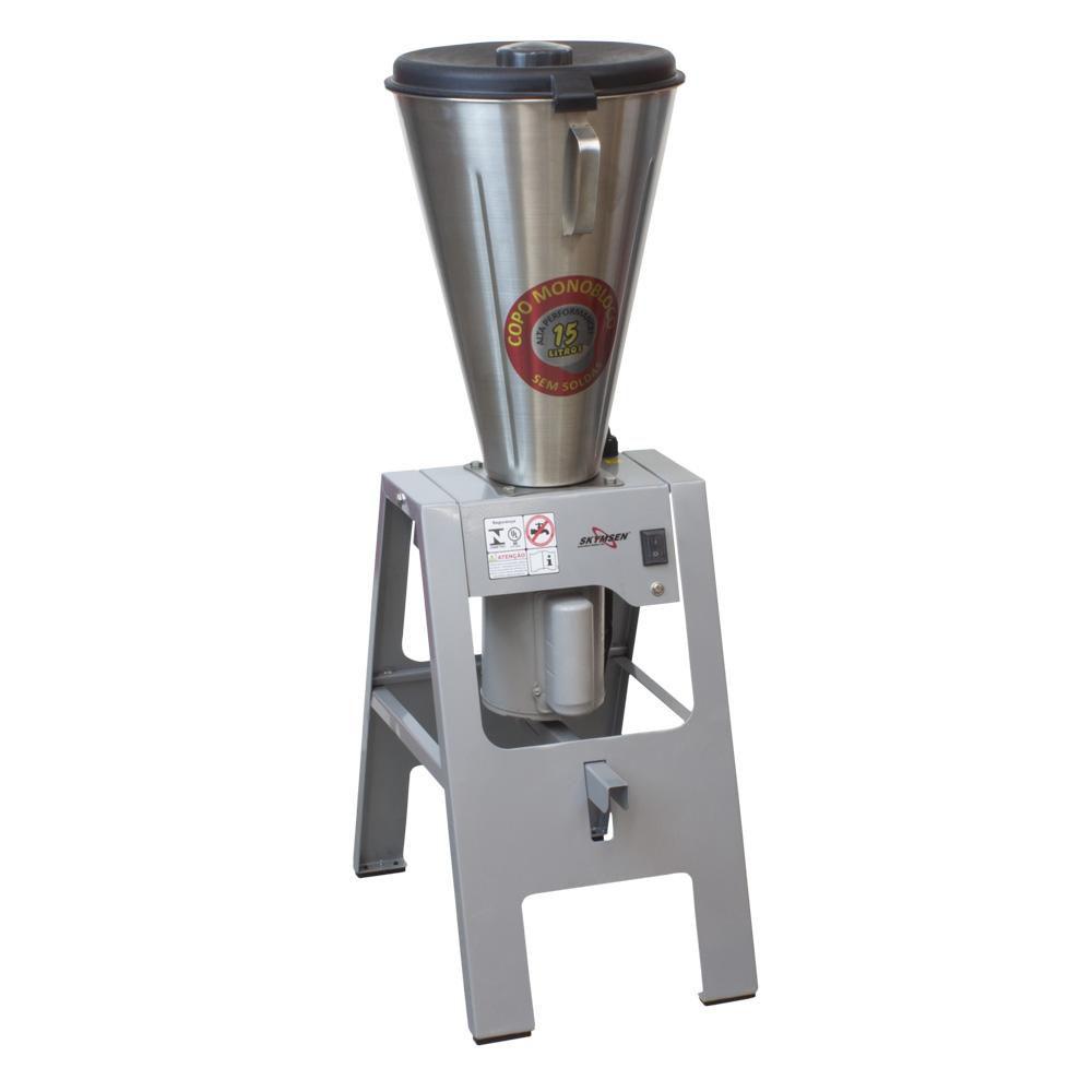 Liquidificador Comercial Basculante Skymsen Inox com Cavalete 15 litros 127V LB-15MBR-N
