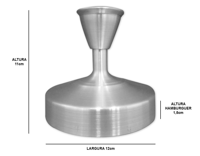 Modelador de Hambúrguer Alumínio 12cm