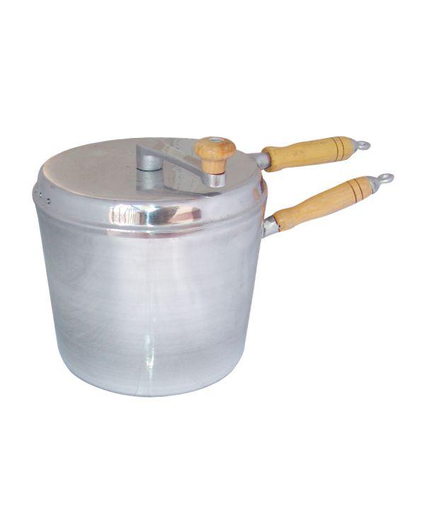 Pipoqueira Alumínio com Cabos de Madeira 5,4 litros