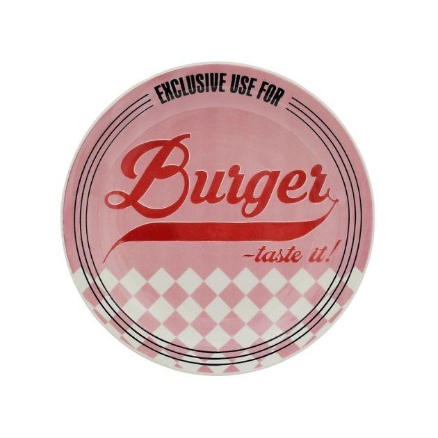 Prato Burger 26cm Porcelana Oxford