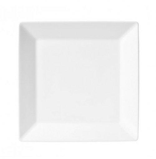 Prato Raso Quadrado Quartier White 26,5cm x 26,5cm Oxford Porcelanas