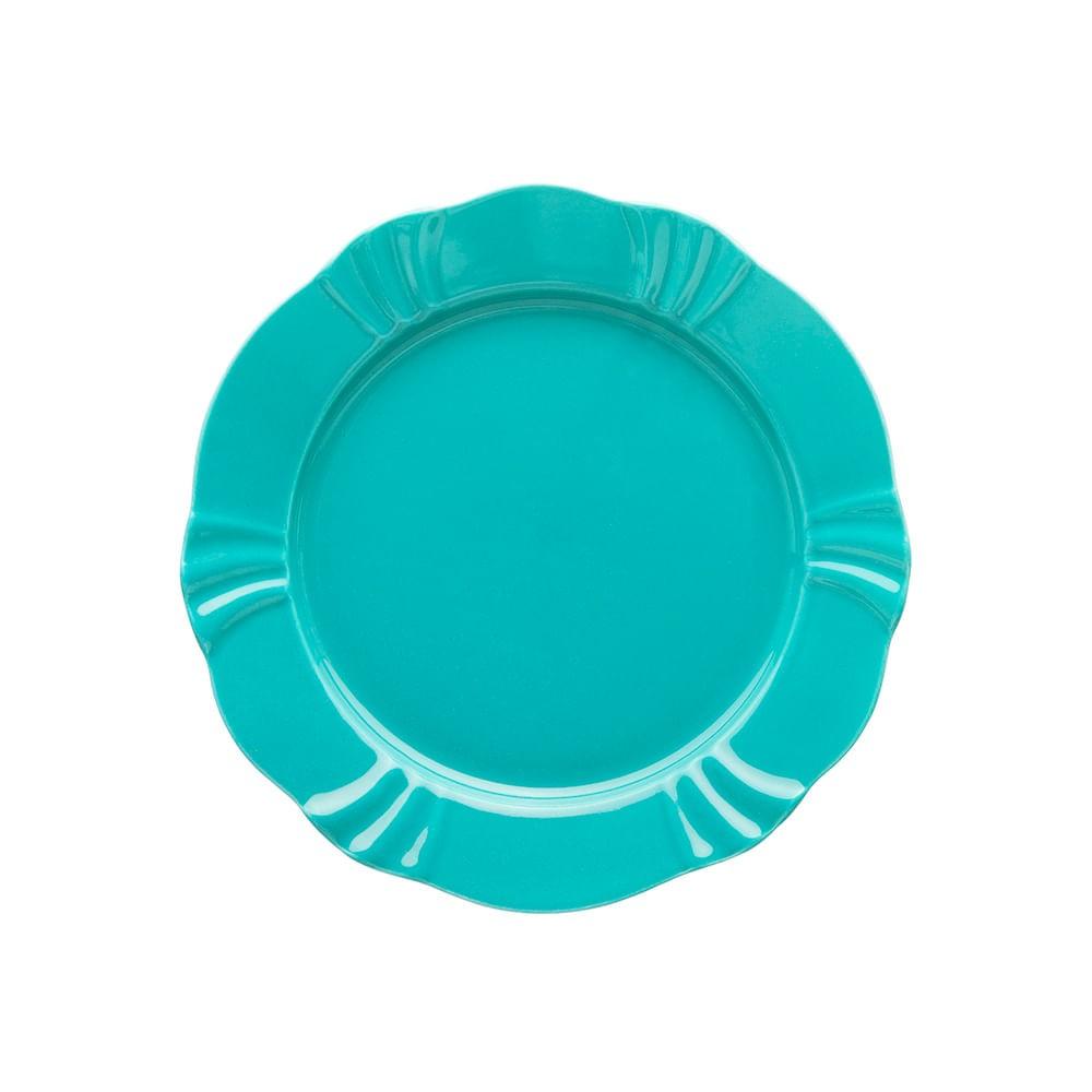 Prato Sobremesa 23cm Soleil Azul