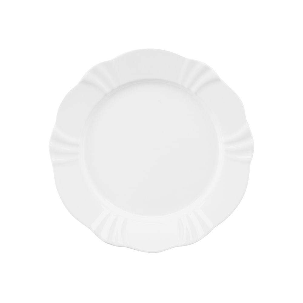 Prato Sobremesa 23cm Soleil White