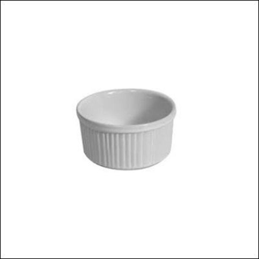 Ramequin Redondo Canelado Porcelana 9,5 cm x 5 cm