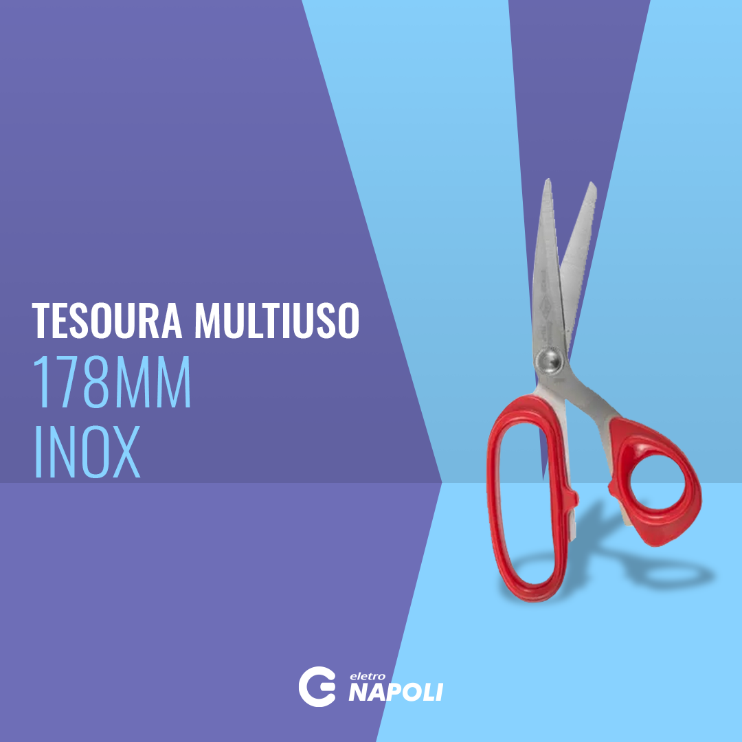 "Tesoura Multiuso 7"" 178mm Inox"
