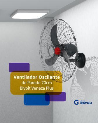 Ventilador Oscilante de Parede 70cm Bivolt Veneza Plus