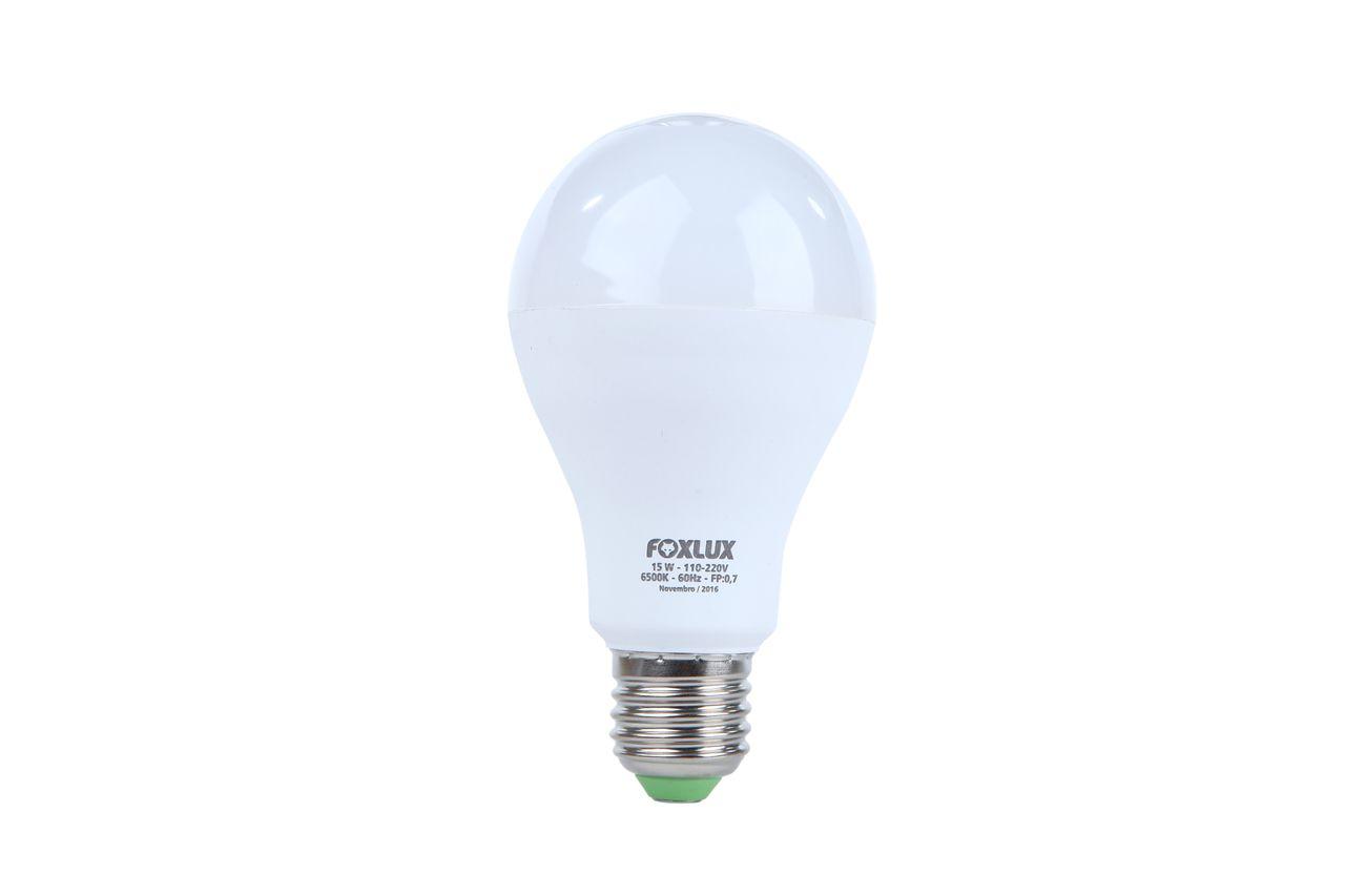 Lâmpada super LED A60 15W E-27 BIVOLT FOXLUX