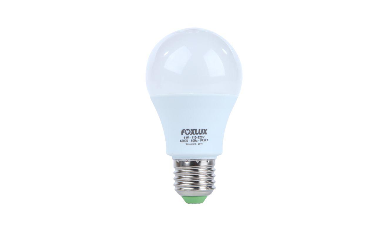 Lâmpada super LED A60 6W E-27 BIVOLT FOXLUX