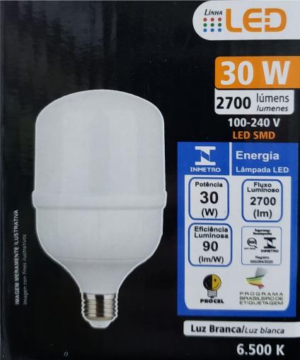 Lâmpada super LED Alta Potência 30W 6500K BIVOLT FOXLUX | Inmetro