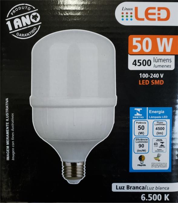 Lâmpada super LED Alta Potência  50W 6500K BIVOLT FOXLUX | Inmetro