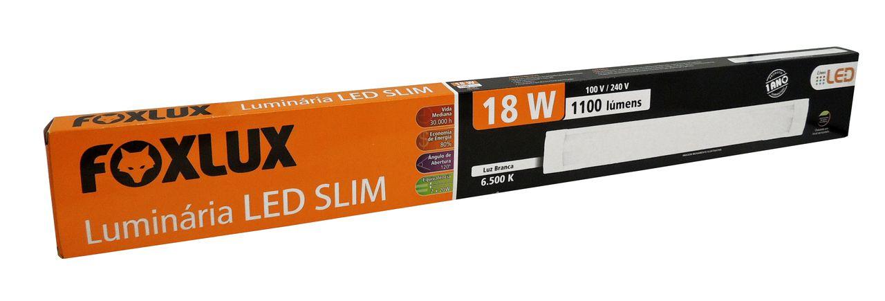 Luminária LED SLIM 18W Bivolt - FOXLUX - LED05.11