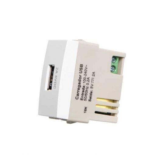 Modulo Tomada Carregador USB 2A Bivolt - Margirius - Sleek