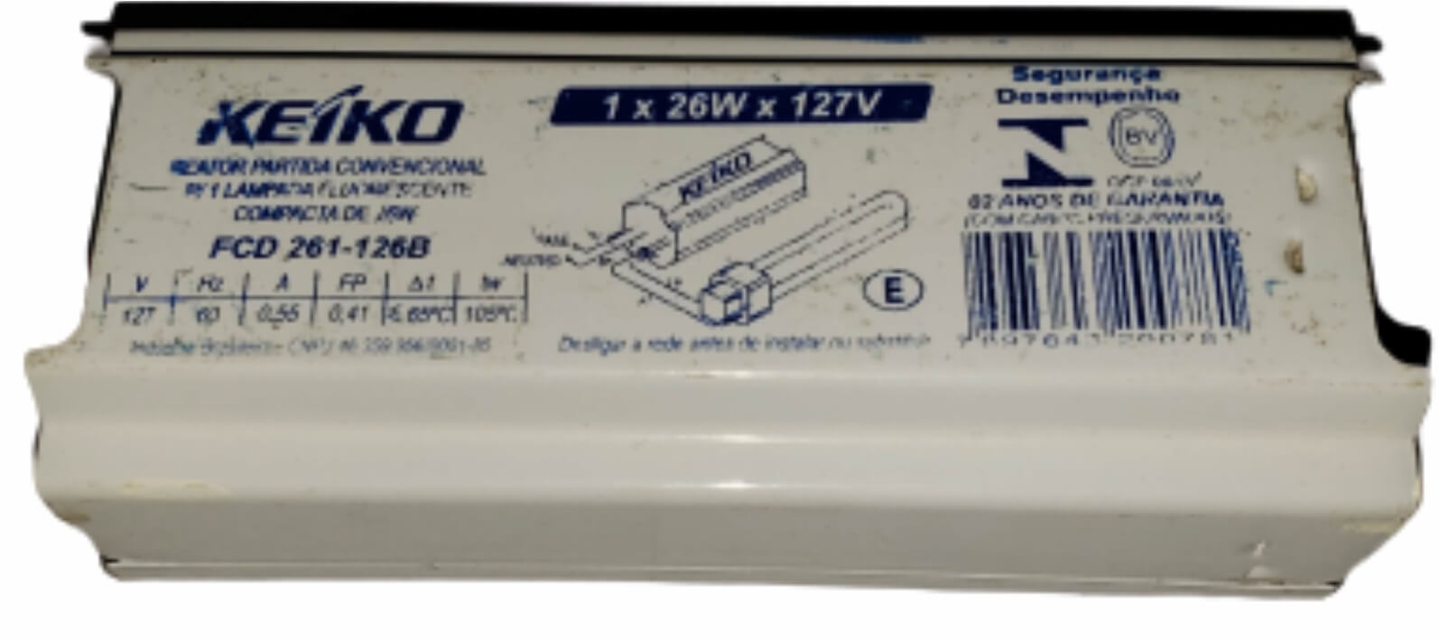 Reator Eletromagnético 1x26x127v - KEIKO