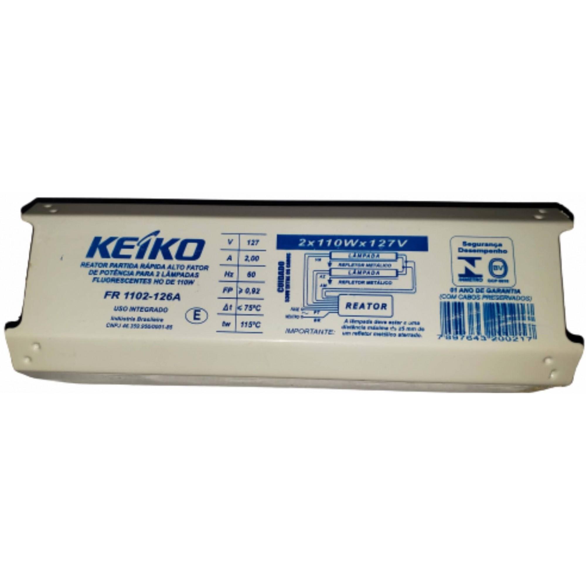 Reator Eletromagnético 2x110x127v - KEIKO