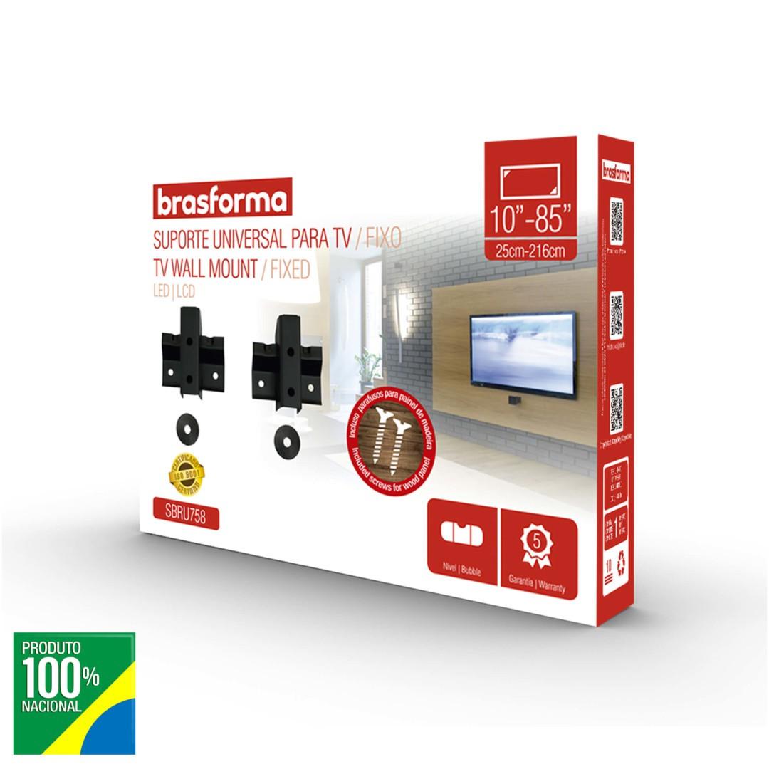 Suporte TV LCD / PLASMA até 85 Fixo - Brasforma - SBRU758