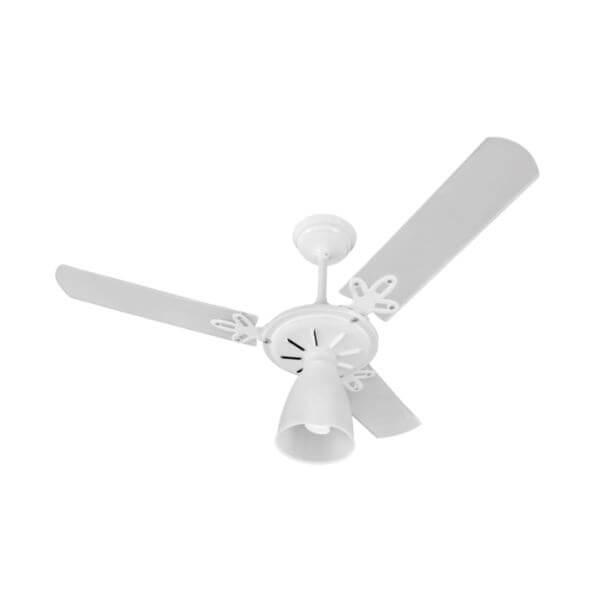Ventilador Teto ARGE - Arlux Branco 3 pas Transparentes 127V