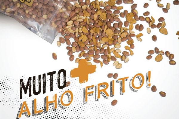 AMENDOIM TORRADO COM ALHO FRITO - AMENDOBENTO